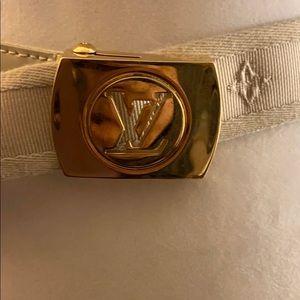 Authentic Vintage Louis Vuitton off white belt